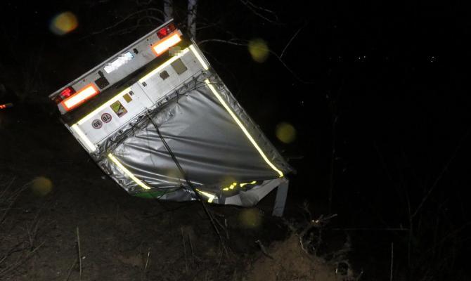 U Brodku havaroval kamion. Škoda je bezmála dva miliony