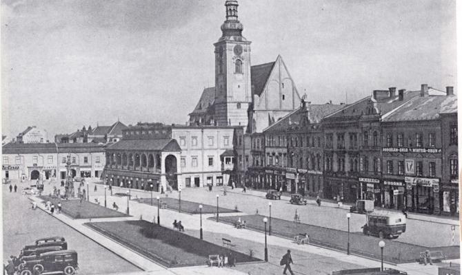 Starý Prostějov. Náměstí TGM