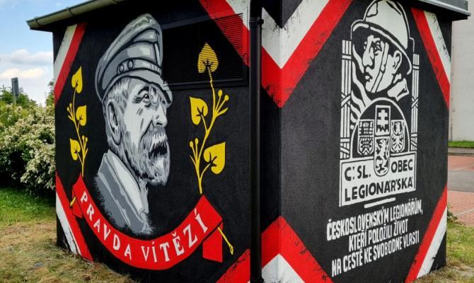 Deset graffiti z dílny Fans of Prostějov. Hokejoví nadšenci kreslili po městě