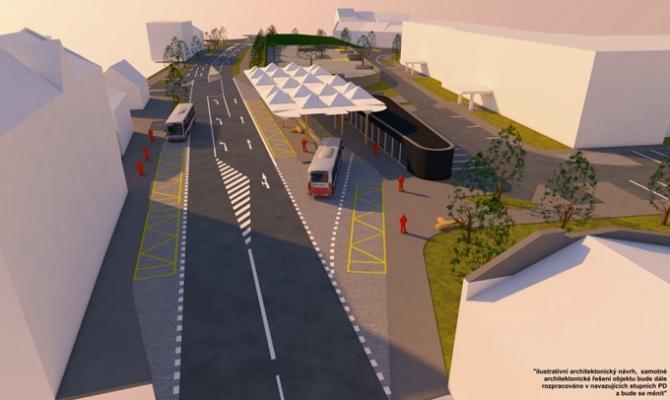 Magistrát připravuje stavbu Dopravního terminálu Újezd