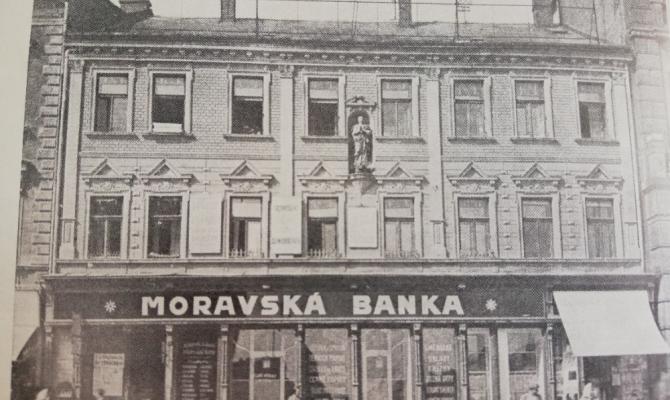 Prostějovské domy. Moravská banka
