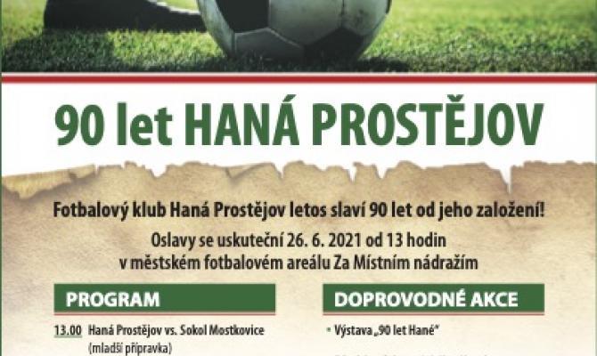 Prostějovská Haná slaví 90 let!